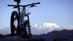 Mountain Bike and Himalayas