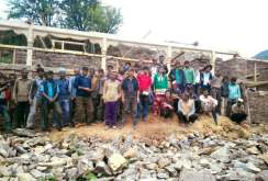 Locals helping in the development of Goat Village Accommodation