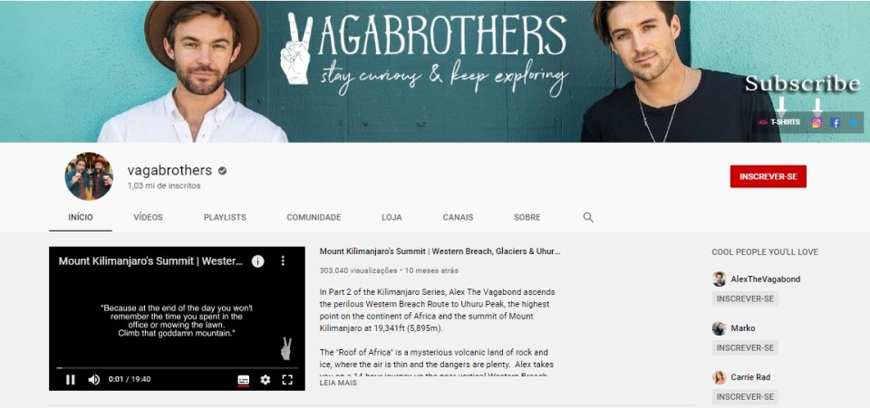 vagabrothers no youtube