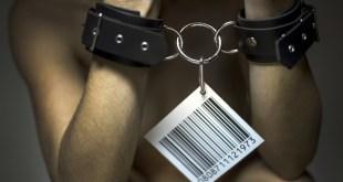 Human beings presented as merchandises