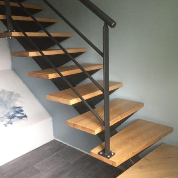 fabrication et pose d escalier en bois