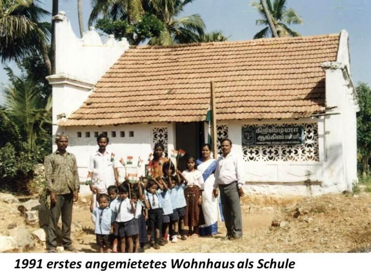 1991 angemietetes Schulhaus