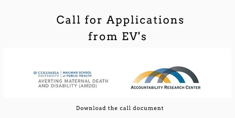 Call for application from EV's for strengthening research and community health workers and accountability