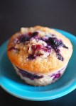 chocolate milk blueberry muffin