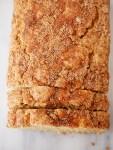 Whole wheat marbled cinnamon sugar quick bread