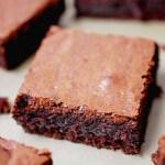 Intense chocolate brownies