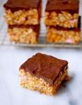 Pumpkin cookie butter rice krispy treats