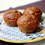 vegan acorn squash muffins