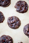 Soft batch double chocolate fudge cookies