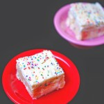 No bake Funfetti cookie dough bars
