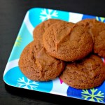 Soft molasses and rum cookies