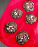 Soft and chewy chocolate peppermint cookies