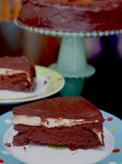 Peppermint patty flourless chocolate cake