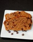 One bowl Greek yogurt pumpkin chocolate chip bread