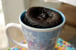 2 minute chocolate and salted caramel mug cakes