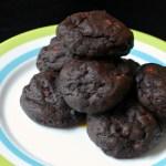 Chocolate and cacao nib cookies