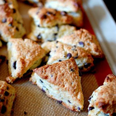 Mini chocolate chip scones