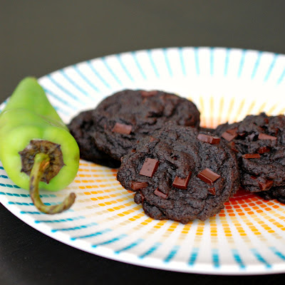 Jalapeño double chocolate chip cookies