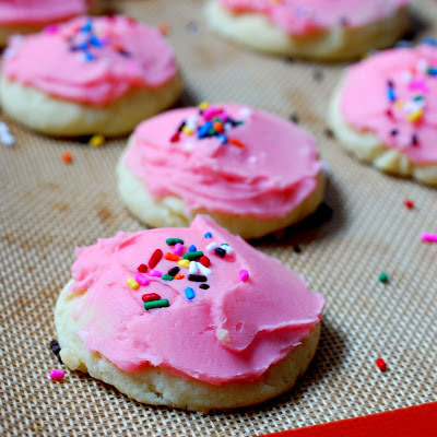 Lofthouse style soft frosted sugar cookies