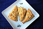 Sweet lavender scones