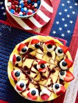 red white and blue cheesecake