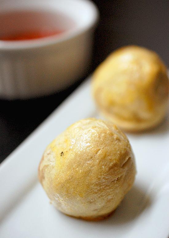 pretzel covered meatballs