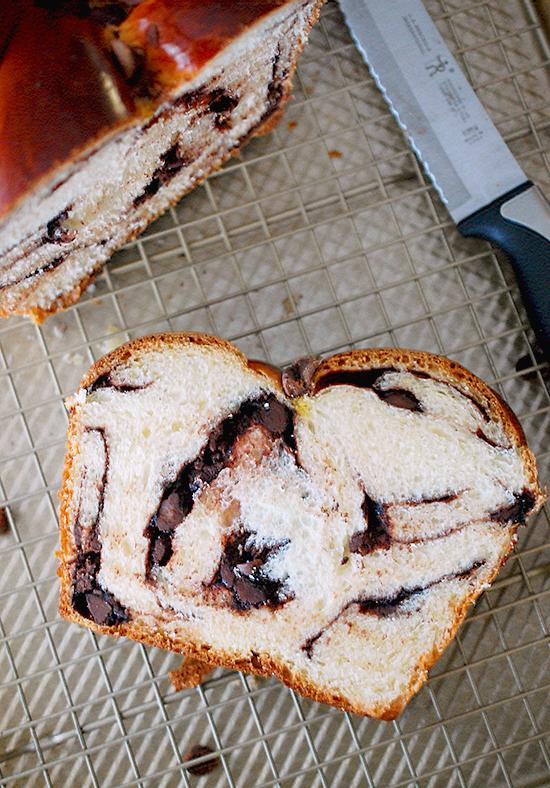 double chocolate challah bread