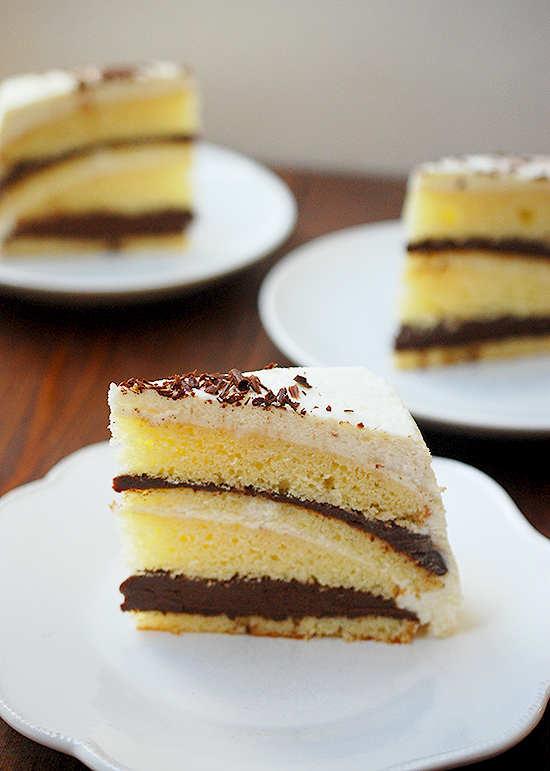 black and white chocolate cake