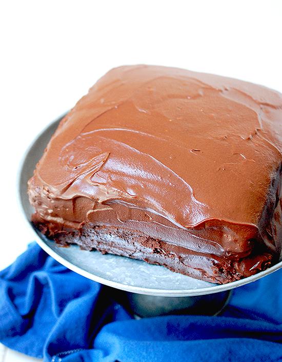 Wellesley chocolate fudge cake