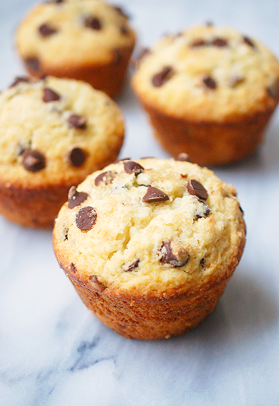 jumbo bakery-style chocolate chip muffins