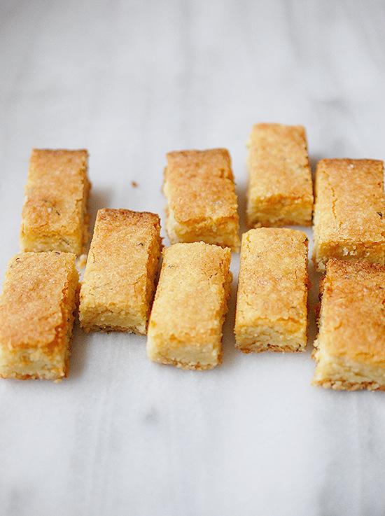lemon rosemary shortbread cookies