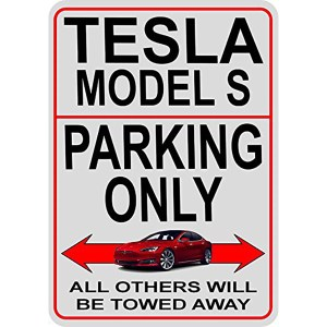 Model S Parking Signs
