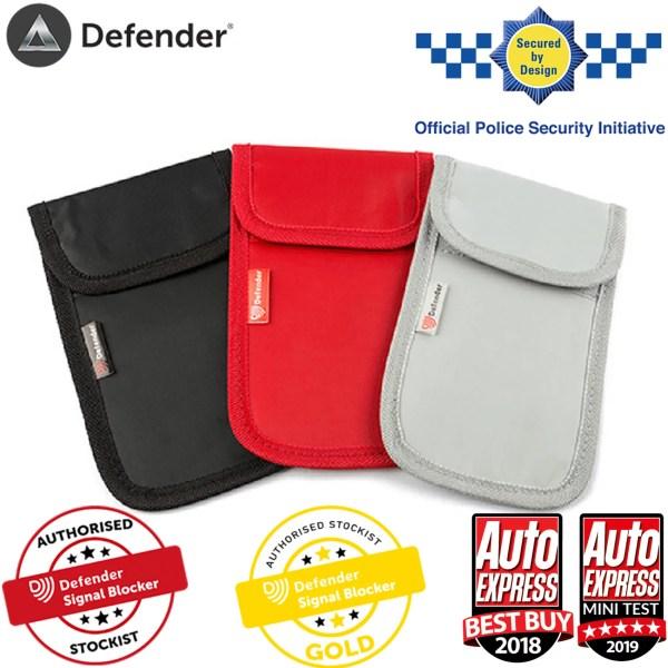 Defender Signal Blocker Authorised Stockist Secured By Design Black OT01119 - Red OT01143 - Grey OT01118
