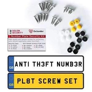 Defender Anti-Theft Reg Plate Fixing Kit