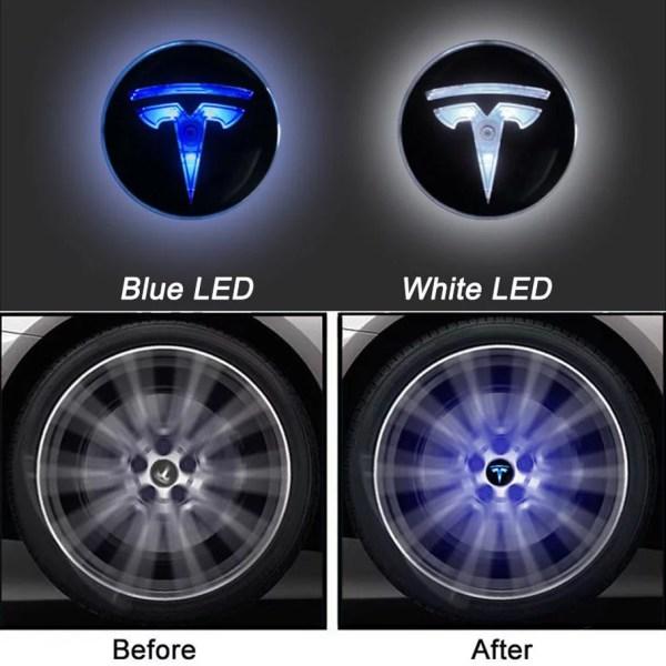 Tesla Floating Wheel Centre Caps