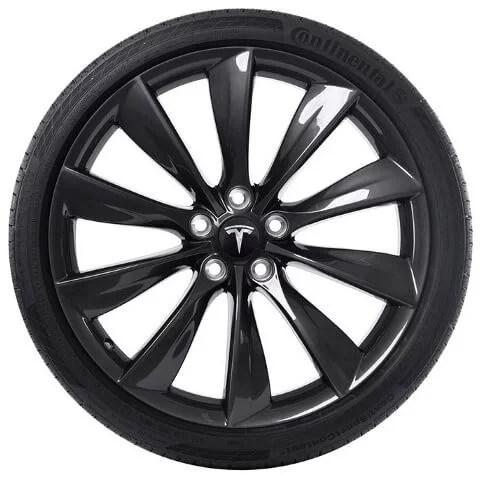 Tesla-Model S Grey Turbine Wheel