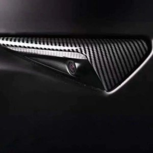 Tesla Model S 3 X side camera Carbon fibre De-Chroming