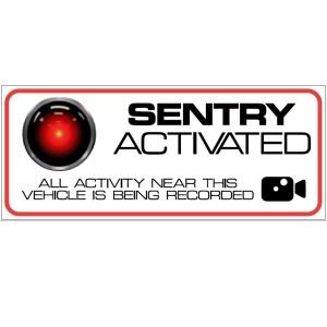 sentry Mode stickers