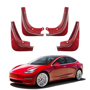 Model 3 Mud Flaps Red