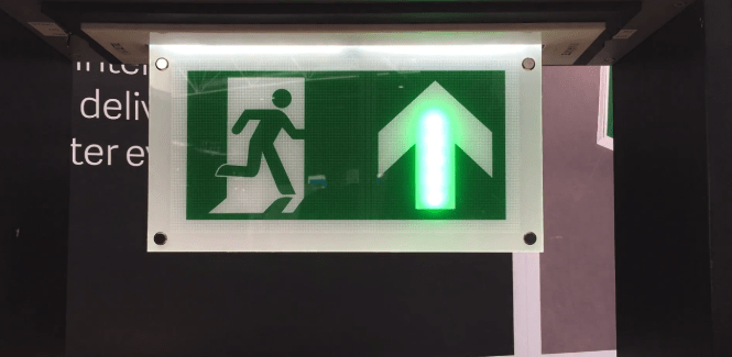 adaptive emergency exit signs