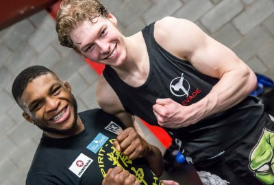"Paul ""Semtex"" Daley Kickboxing Seminar photo with Michael Ward"