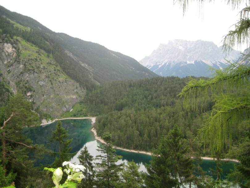 Bavarian Alps, view on the Zugspitze (Germany)