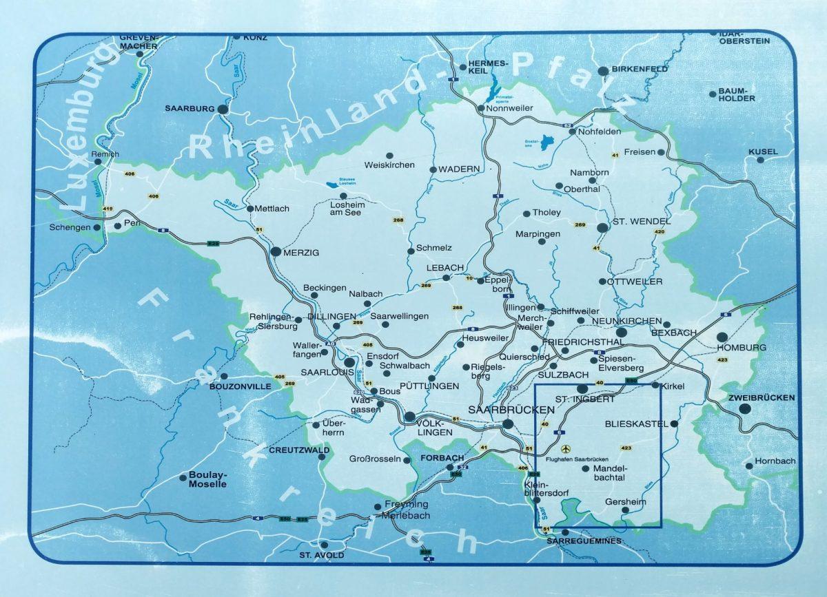 Saarland_kaart