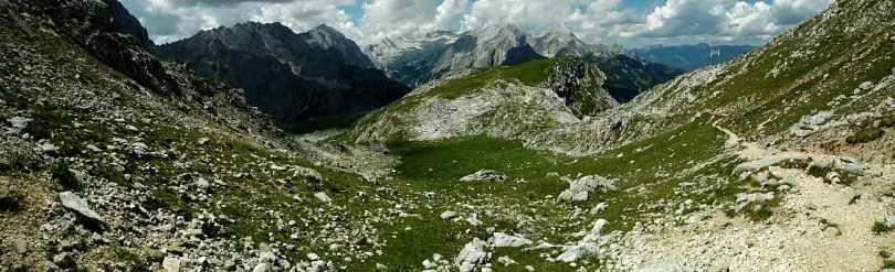 View from Meilerhütte, Via Alpina Red Trail Austria