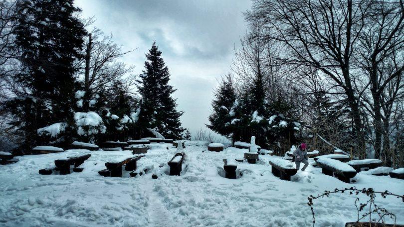 Planinarski Dom Runolist | Snowy terrace