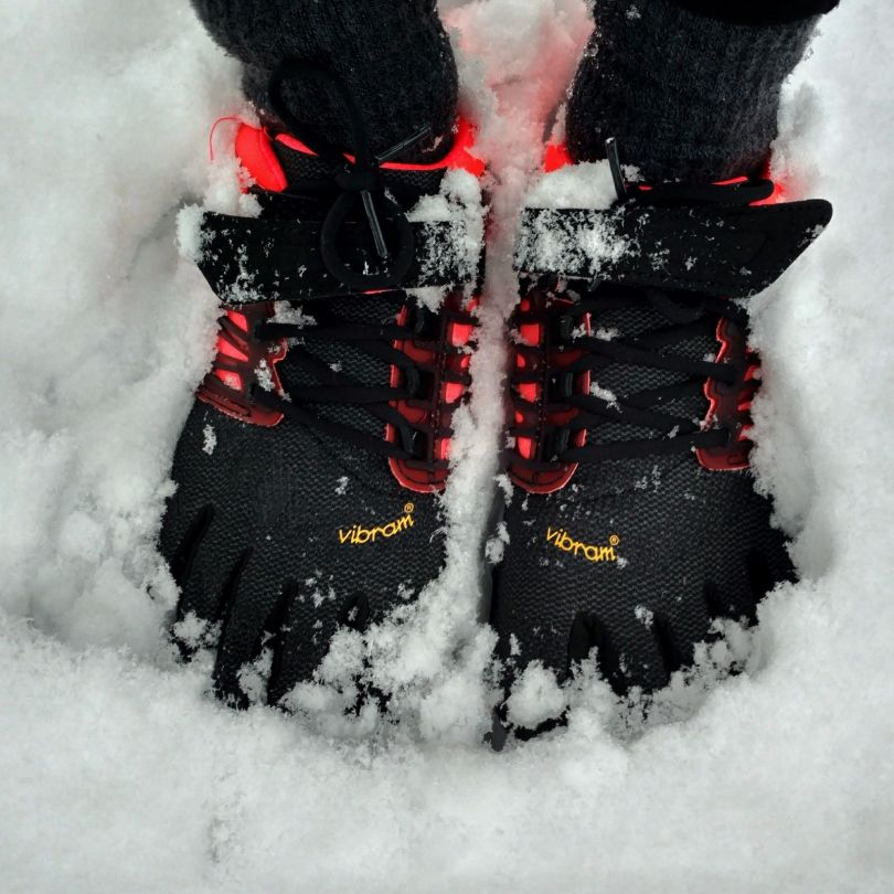 Vibram FiveFingers in the snow | V-Train is pretty winterproof