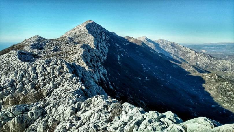 Rocky ridge to Kozik peak, Mosor mountain