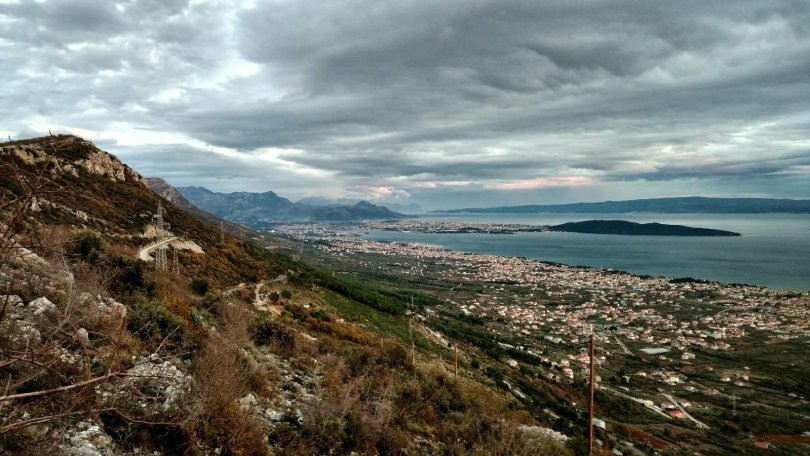 View on Split and the mountains above