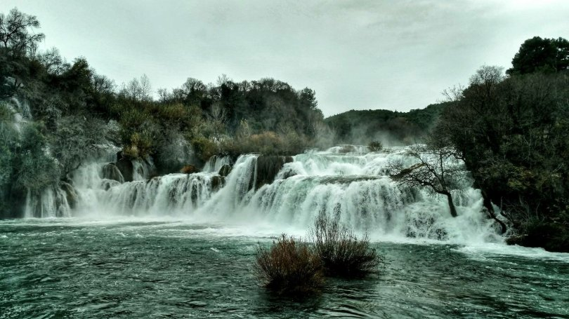 Krka National Park in winter