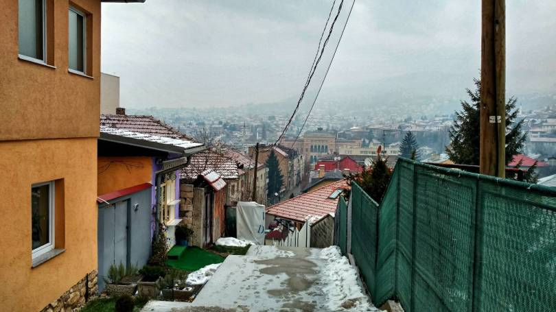The stairs to the cable car, Sarajevo